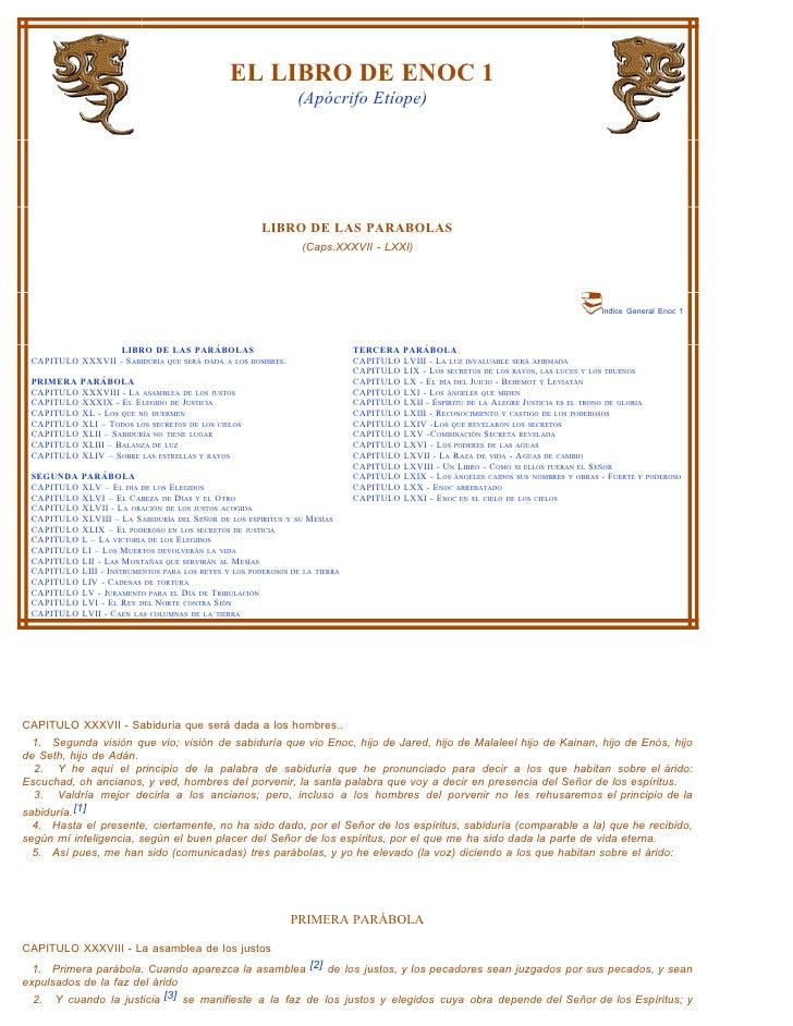 EL LIBRO DE ENOC 1                                                                (Apócrifo Etíope)                       ...