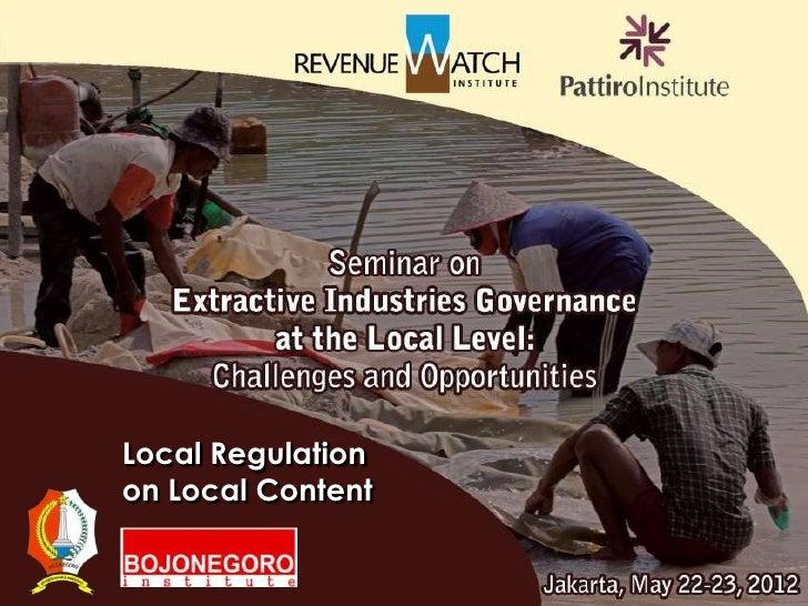 Local Regulationon Local Content