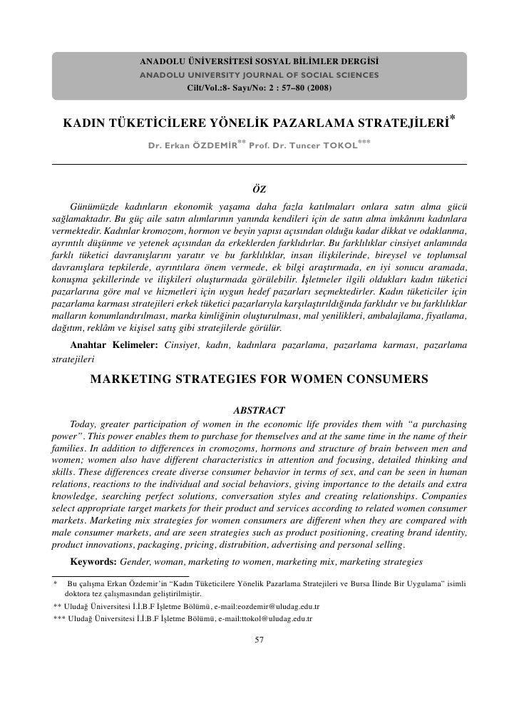 ANADOLU ÜNİVERSİTESİ SOSYAL BİLİMLER DERGİSİ                         ANADOLU UNIVERSITY JOURNAL OF SOCIAL SCIENCES        ...