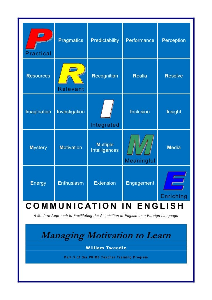 3   Managing Motivation to Learn Course Resource Book