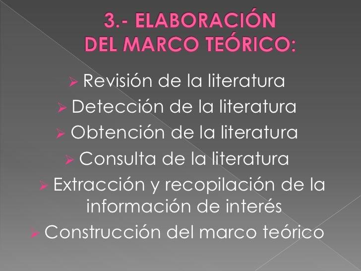  Revisión de la literatura    Detección de la literatura    Obtención de la literatura     Consulta de la literatura ...