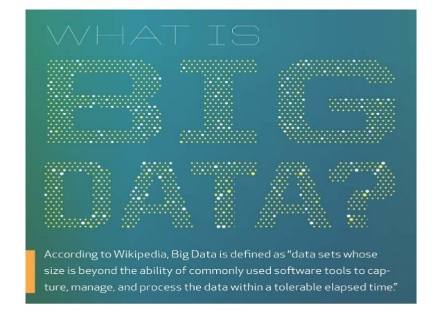 Big Data Is About…     Tapping into diverse data sets           Finding and mone1zing           unknown ...