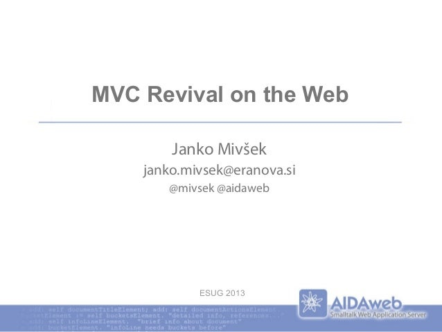 MVC Revivial on the Web