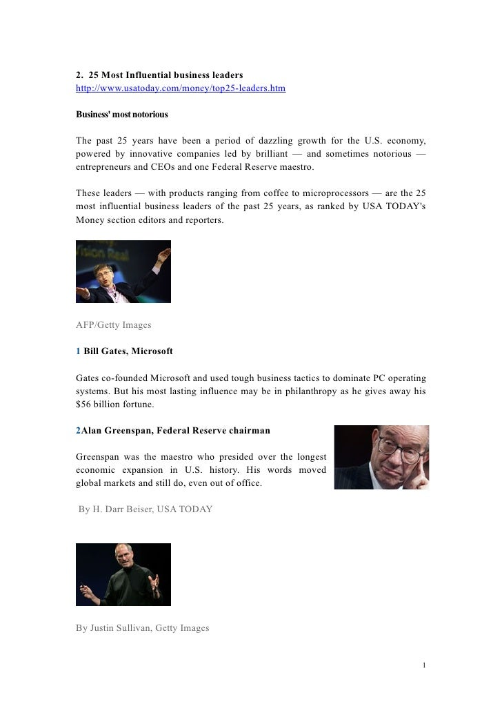 3.Most Influential Business Leaders