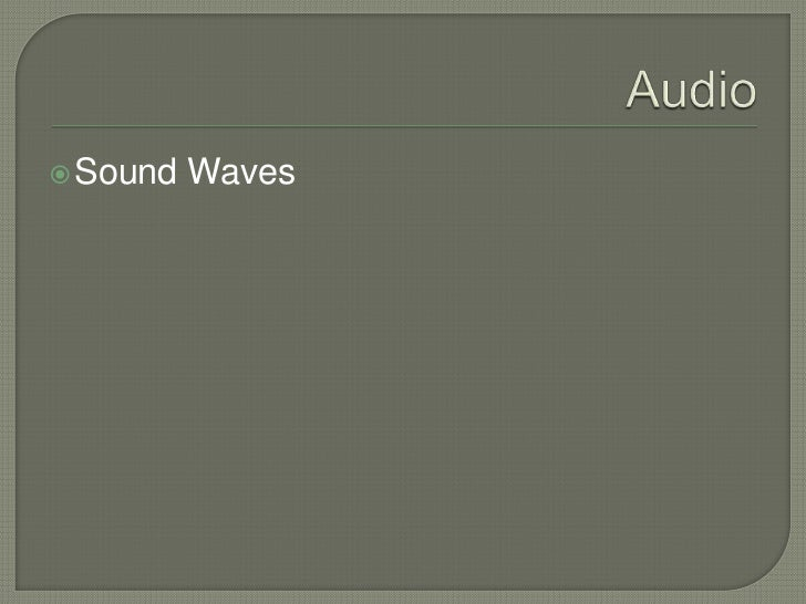 3   multimedia elements - audio