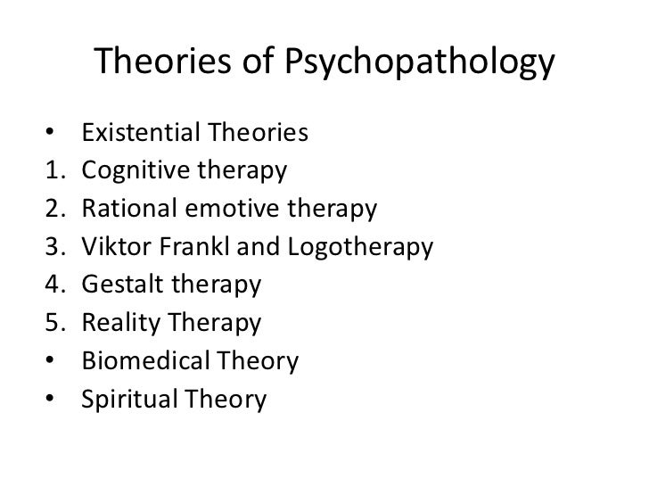 cognitive therapy theory of psychopathology and Robert l leahy american institute for cognitive therapy, nyc cornerstones of cognitive therapy one could say that cognitive theory is derived considerable importance to a theory of psychopathology third, ellis's work.
