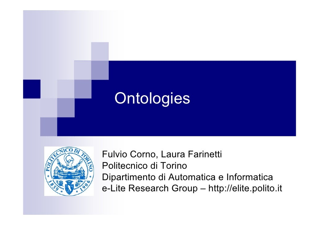 Ontologies: introduction, design, languages and tools