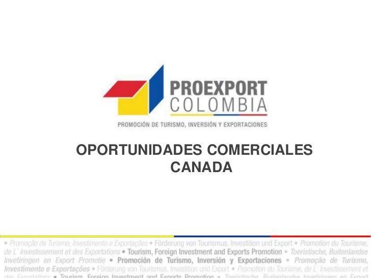 3. oportunidades comerciales en canadá