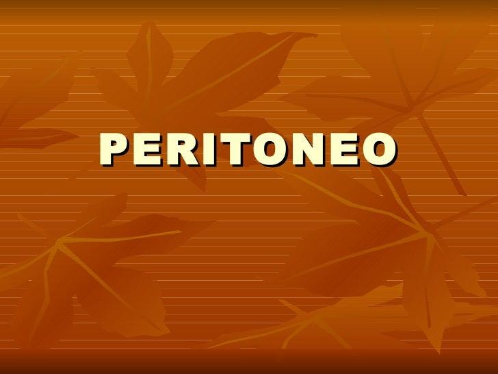 3. peritonitis