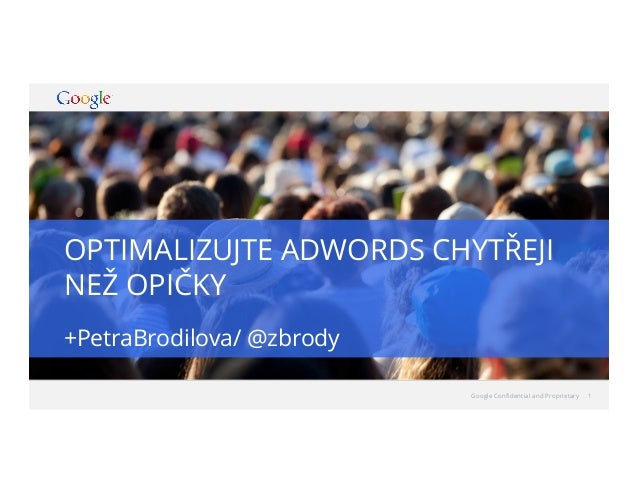 Petra Brodilova - Optimize your Adwords account smarter than monkeys