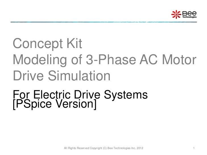 Concept Kit 3-Phase AC Motor Drive Simulation (PSpice Version)
