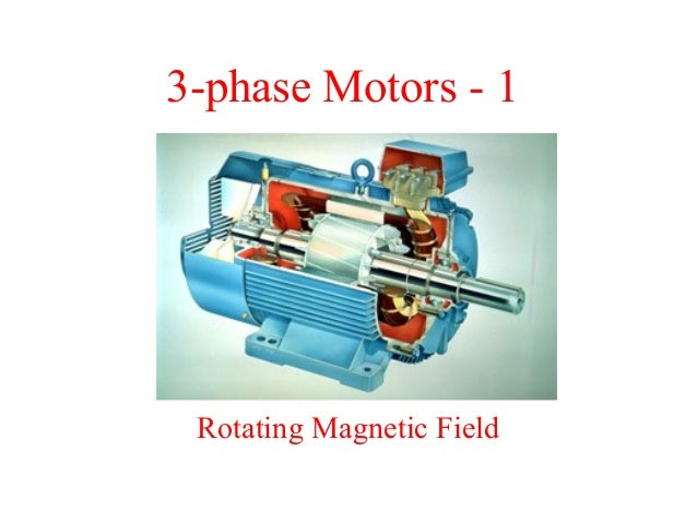 3-phase Motors - 1  Rotating Magnetic Field