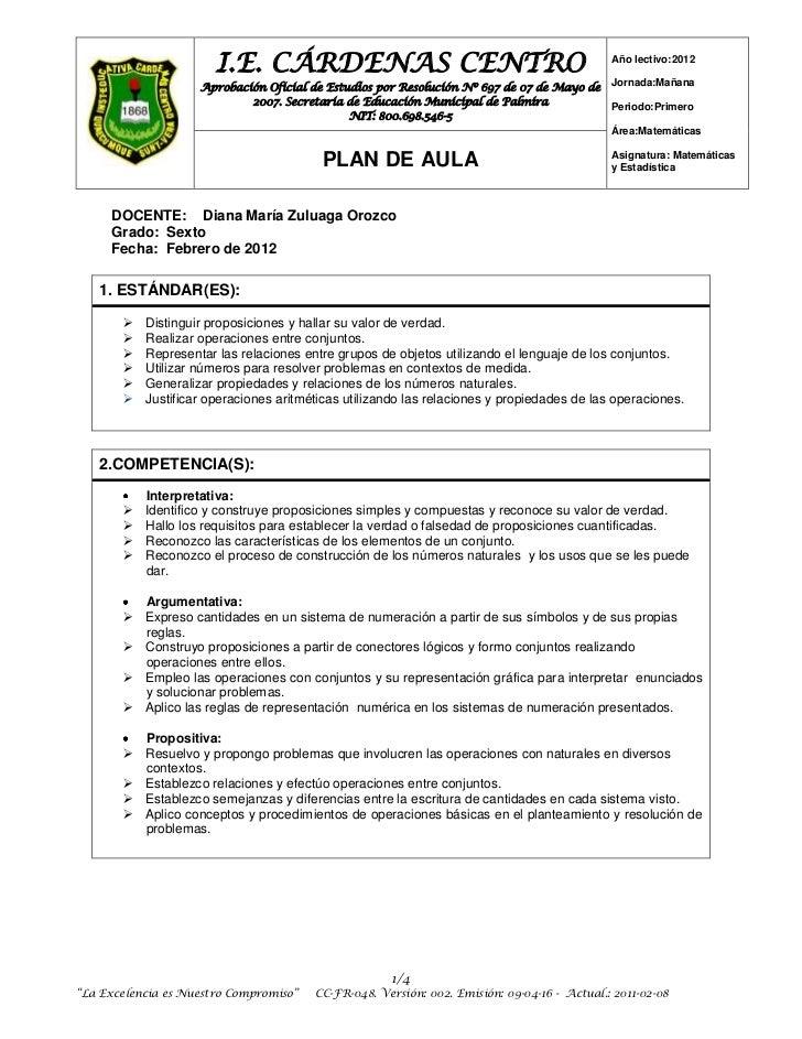 I.E. CÁRDENAS CENTRO                                                  Año lectivo:2012                    Aprobación Ofici...