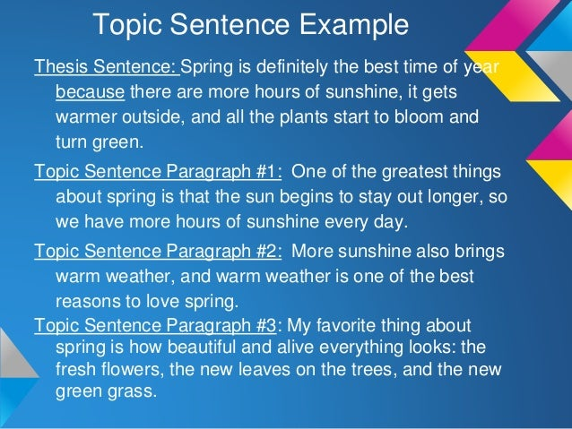 How are topic sentences and thesis statements similar