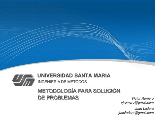 Metología de Solución de Problemas