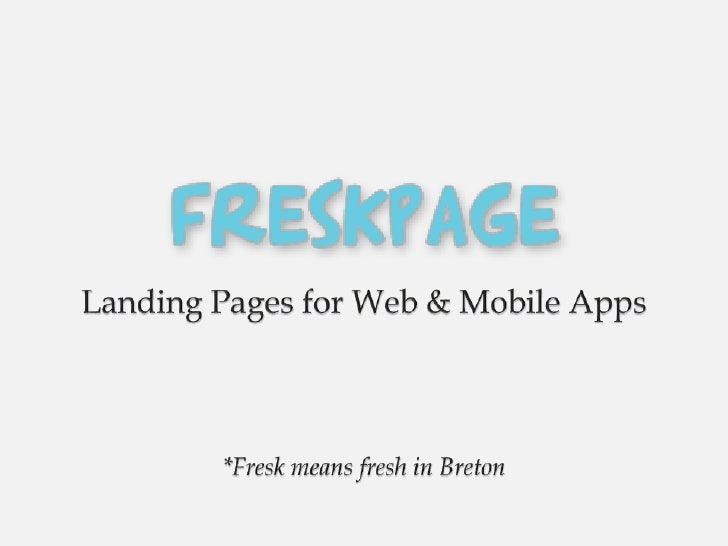 Presentation Freskpage