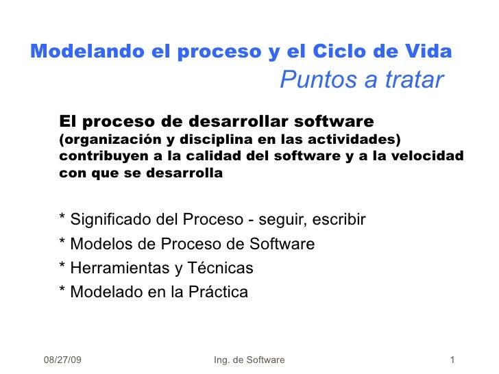 El proceso de desarrollar software  (organización y disciplina en las actividades) contribuyen a la calidad del software y...