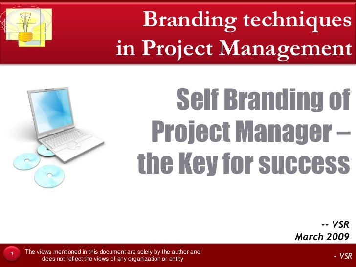 Self Branding of Project Manager.. What & How?