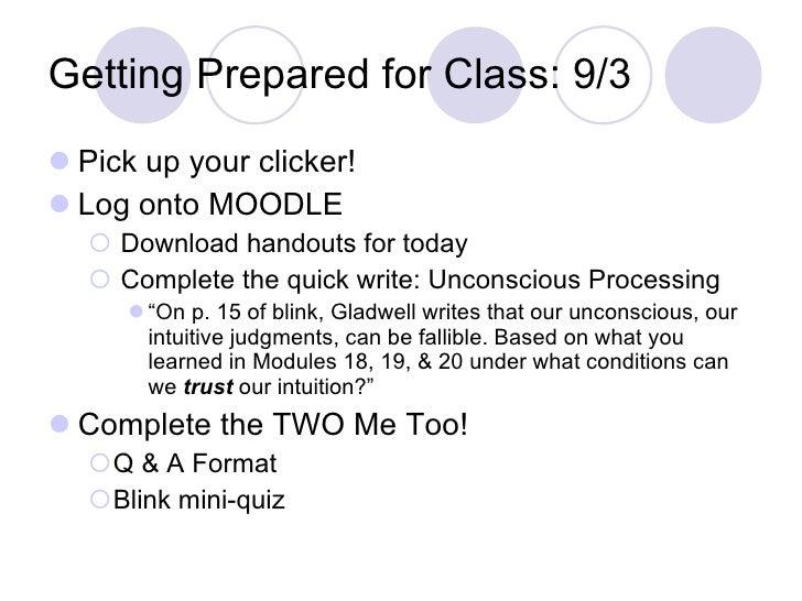 Getting Prepared for Class: 9/3 <ul><li>Pick up your clicker! </li></ul><ul><li>Log onto MOODLE </li></ul><ul><ul><li>Down...