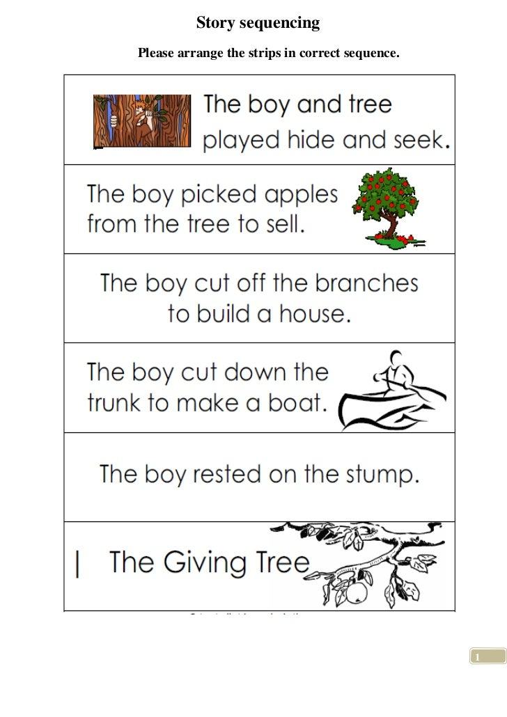 Sequencing sentences worksheets