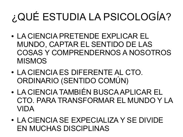 3. ¿qué estudia la psicología