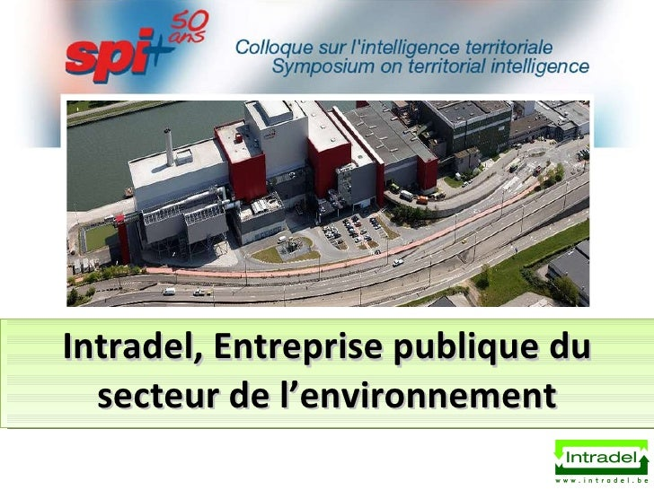 Intradel, Entreprise publique du secteur de l'environnement