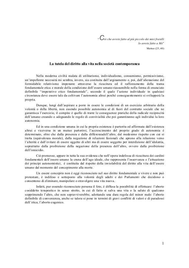 Raimondo villano - La tutela del diritto alla vita