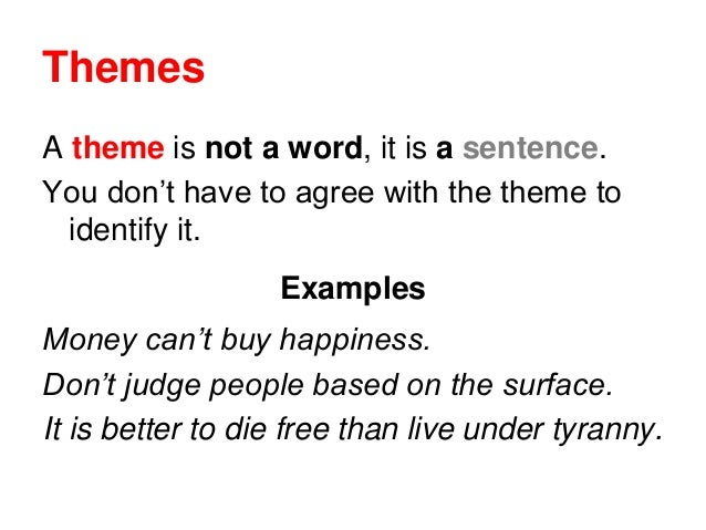 An example of a theme essay