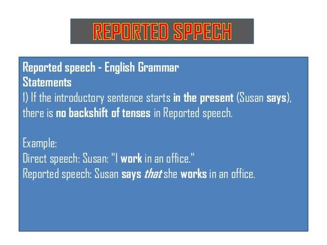 3. reported speech