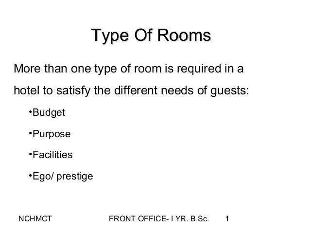 Examples List on Defining Types Of Hotel Accommodations