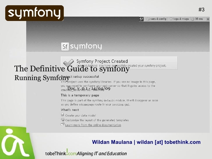 Running Symfony