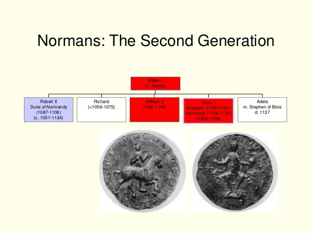 Normans: The Second Generation                                   William I                                   m. Matilda   ...
