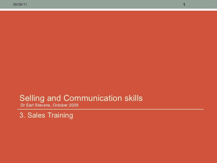 3. sales training   selling and communication skills