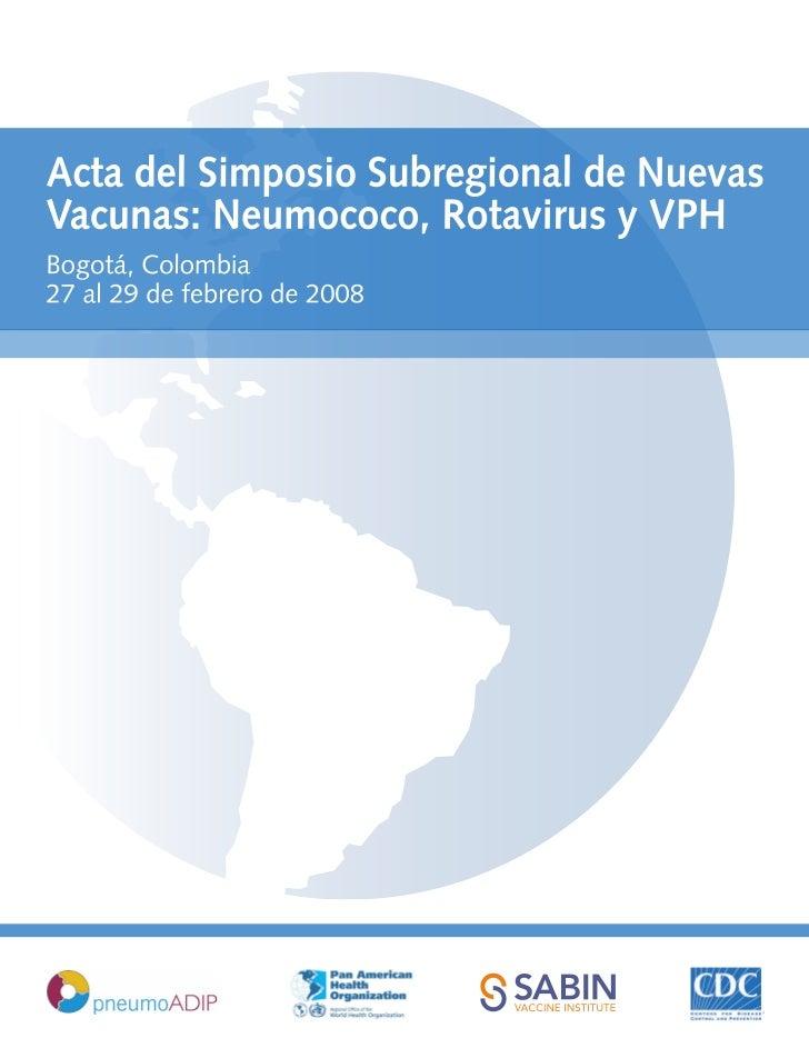 3 simposio subregional de neumococo colombia 2008