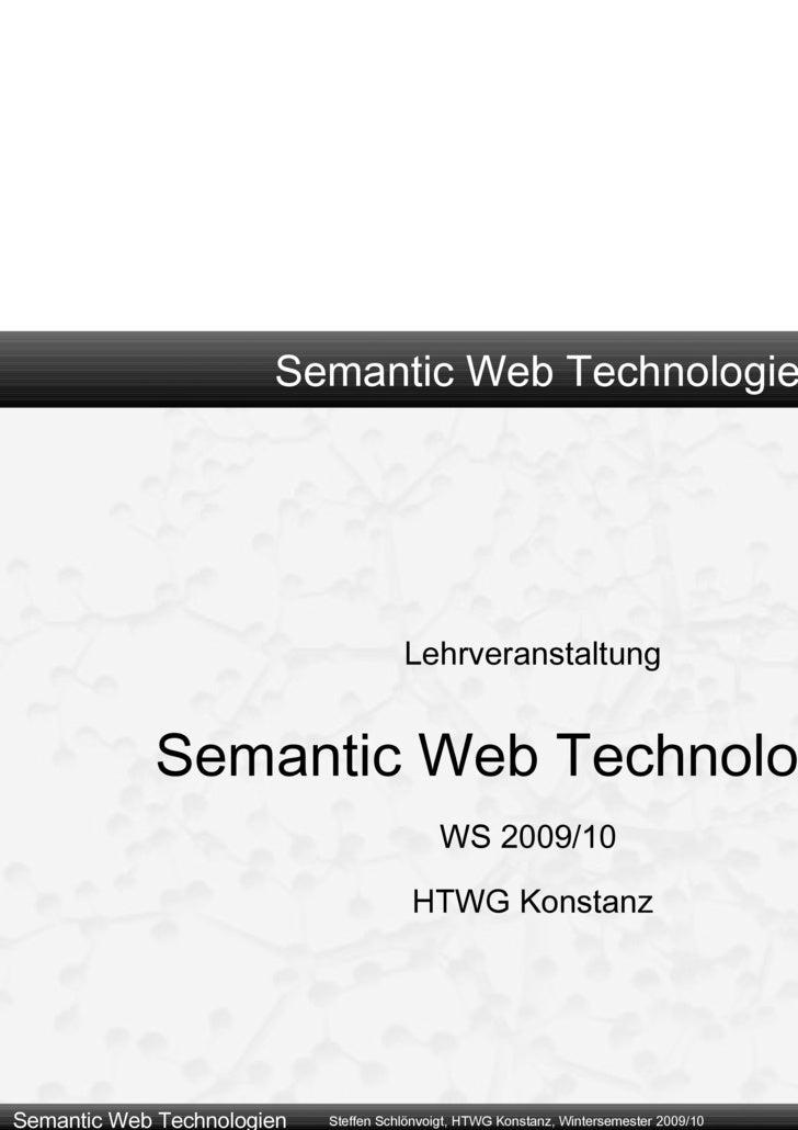 3 - Sprachen Des Semantic Web - RDF