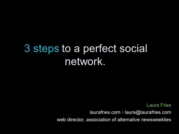 3 steps to creating a social network