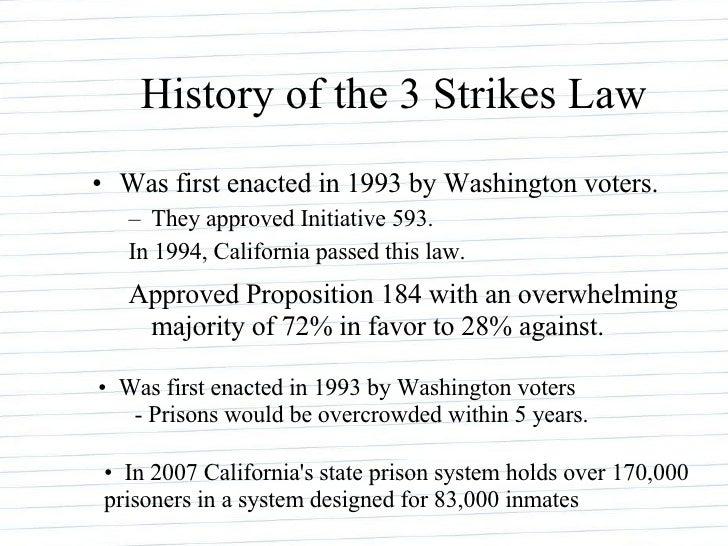Proposition 184 Sentencing