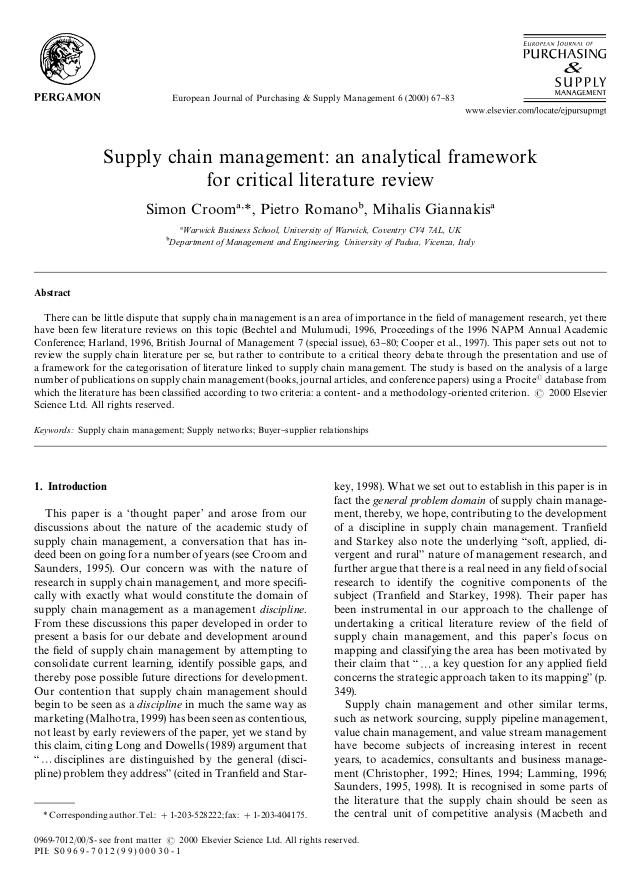 open supplier network essay