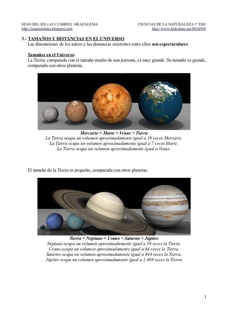 3.- Tamaños y distancias en el Universo