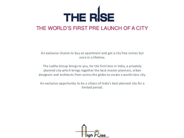 THE WORLD'S FIRST PRE LAUNCH OF A CITY An exclusive chance to buy an apartment and get a city free comes but once in a lif...
