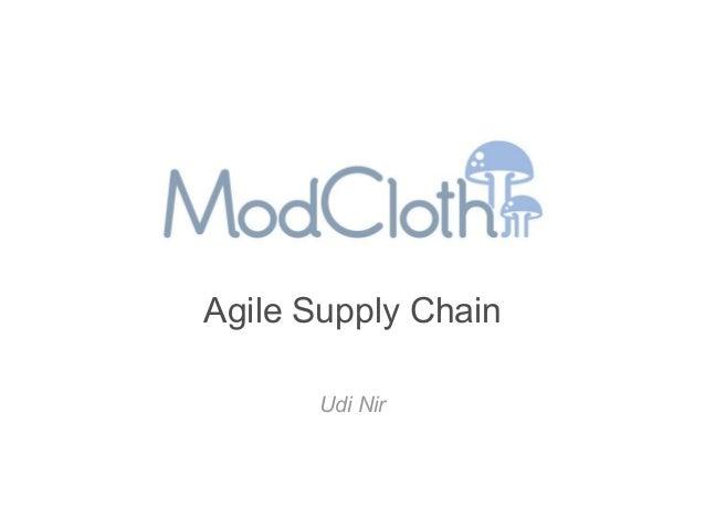 Agile Supply Chain       Udi Nir