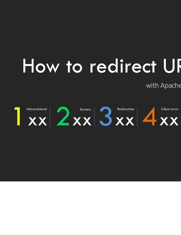 How to redirect URL with Apache web server