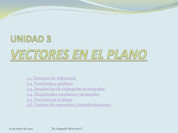 3.1. Sistemas de referencia              3.2. Funciones y gráficas              3.3. Resolución de triángulos rectángulos ...