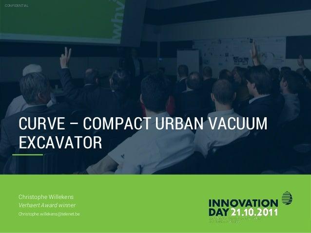 Verhaert Innovation Day 2011 – Christophe Willekens – Verhaert Award Winner 'Project Curve'