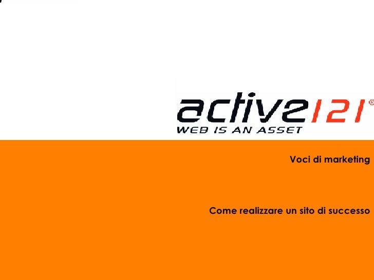 Voci di marketing Come realizzare un sito di successo