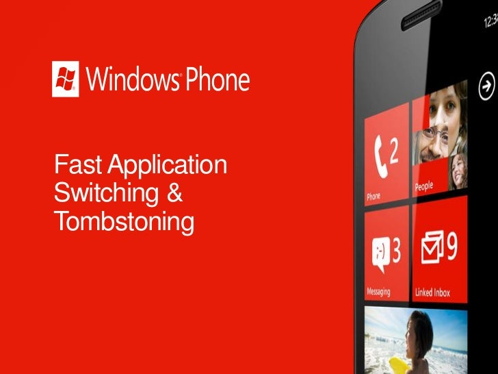 follow-app BOOTCAMP 2: Windows phone fast application switching