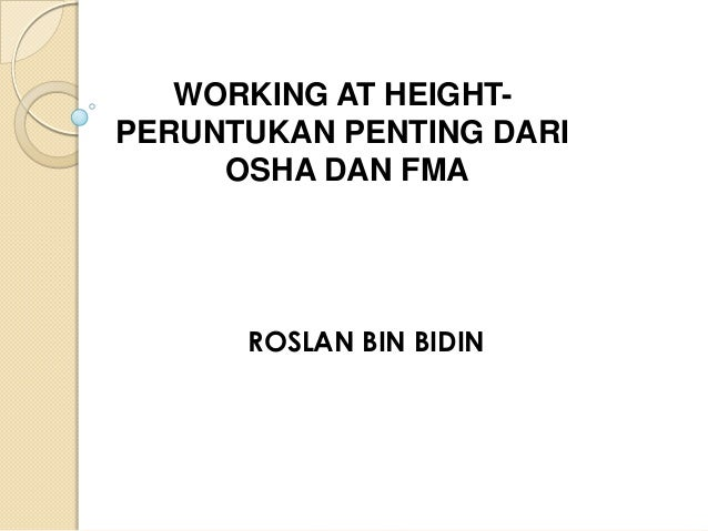 Seminar Cakna KKP - WORKING AT HEIGHT What Goes Up, Come Down Safely