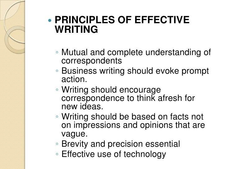 Four Basic Principles of Business Writing