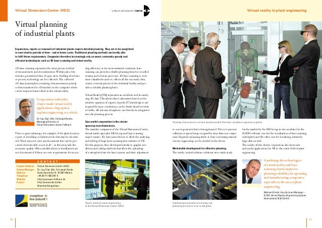 Virtual planning of industrial plants