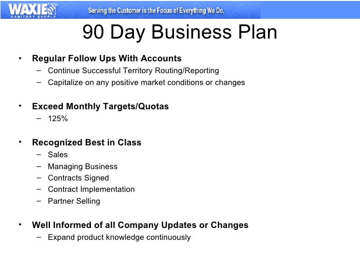 90 day sales business plan template free
